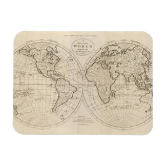 Map of the World 2 Vinyl Magnets