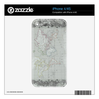 Map of the World 2 Skins For The iPhone 4S
