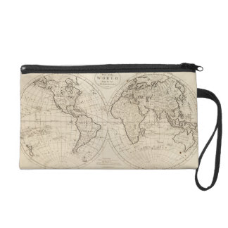 Map of the World 2 Wristlet Purse