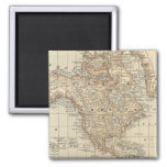 Map of the World 3 2 Inch Square Magnet