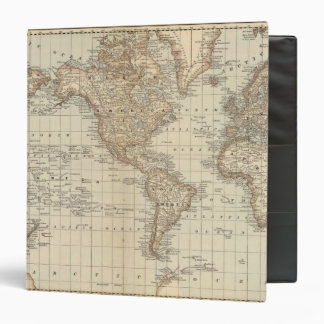 Map of the World 3 3 Ring Binder