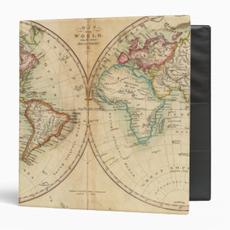 Map of the World 3 3 Ring Binders