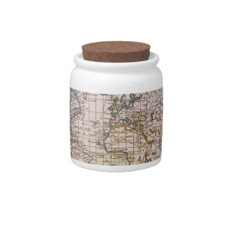 Map of the World 3 Candy Dishes
