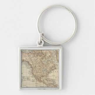 Map of the World 3 Keychain