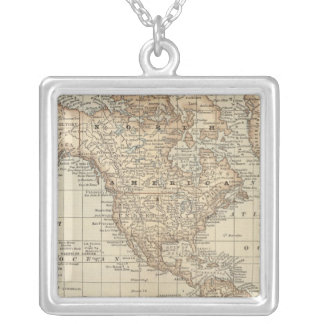 Map of the World 3 Custom Necklace