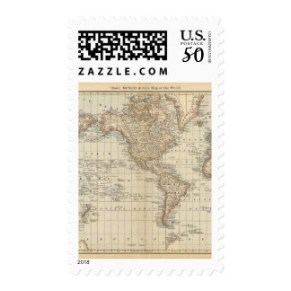 Map of the World 3 Postage