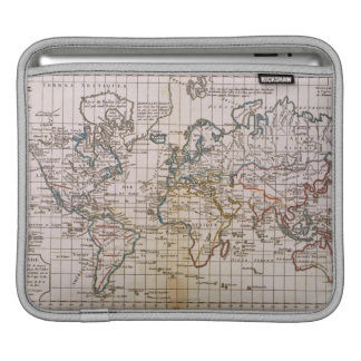 Map of the World 3 Sleeve For iPads