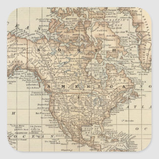 Map of the World 3 Square Sticker