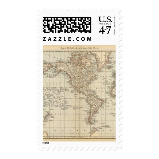 Map of the World 3 Stamp