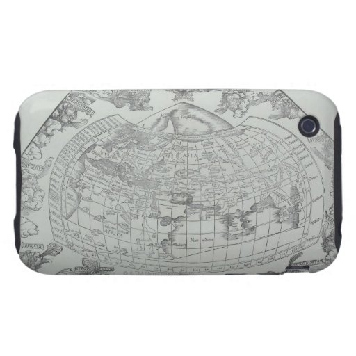Map of the World 4 Tough iPhone 3 Case