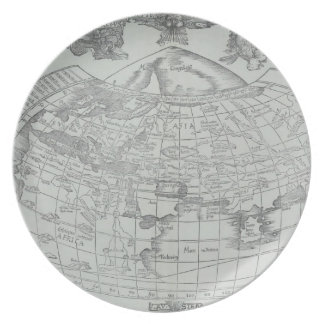Map of the World 4 Plates