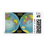 Map of the World 4 Postage