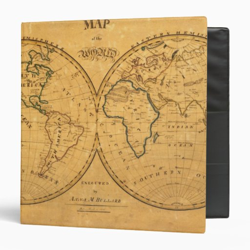 Map of the World 5 3 Ring Binders