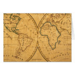 Map of the World 5 Greeting Card
