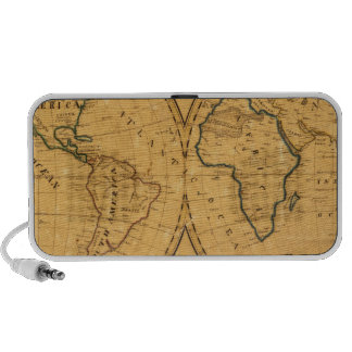 Map of the World 5 iPhone Speakers