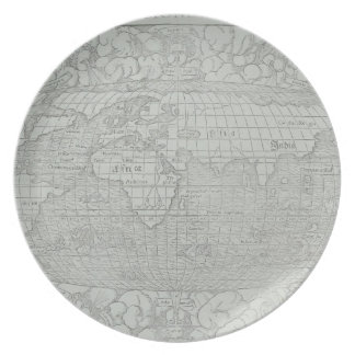 Map of the World 5 Party Plates