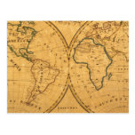 Map of the World 5 Postcard