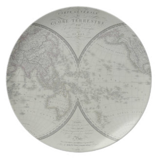 Map of the World 9 Party Plate