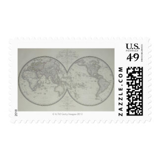 Map of the World 9 Postage Stamp