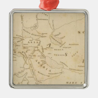 Map of the World According to Strabo Metal Ornament