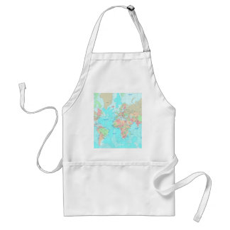 Map of the world aprons