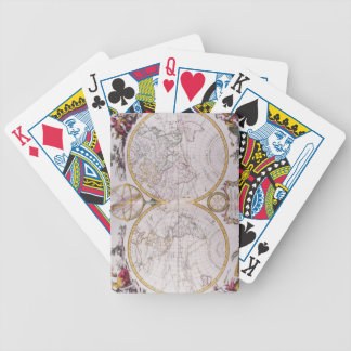 Map of the World Bicycle Playing Cards