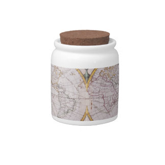 Map of the World Candy Dish