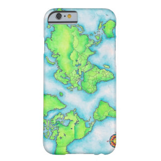 Map of the World Barely There iPhone 6 Case