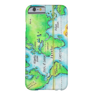 Map of the World & Equator Barely There iPhone 6 Case