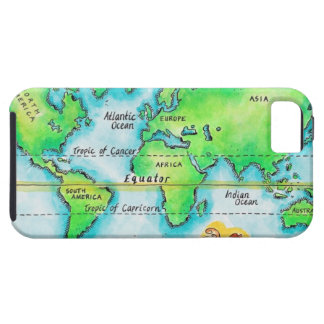 Map of the World & Equator iPhone SE/5/5s Case