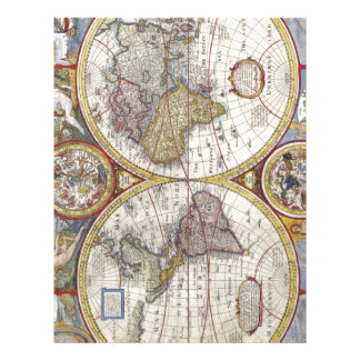 Map of the world from 1626 letterhead