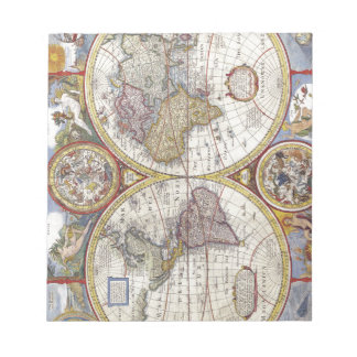 Map of the world from 1626 notepad