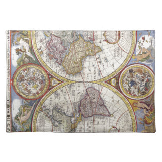 Map of the world from 1626 placemat