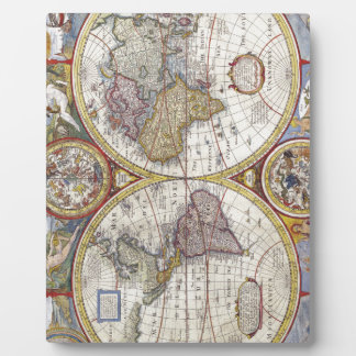 Map of the world from 1626 plaque