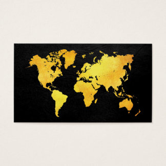 Map of the World (Gold) Business Card