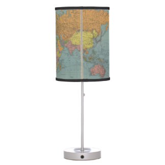 Map of the World Desk Lamps