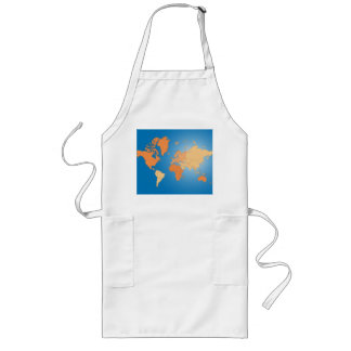 Map of the World Long Apron