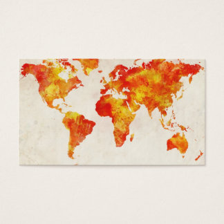 Map of the World Map Abstract Painting Business Card
