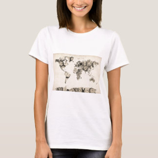 Map of the World Map from Old Clocks T-Shirt