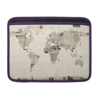 Map of the World Map from Old Postcards MacBook Sleeve