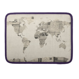 Map of the World Map from Old Postcards MacBook Pro Sleeve