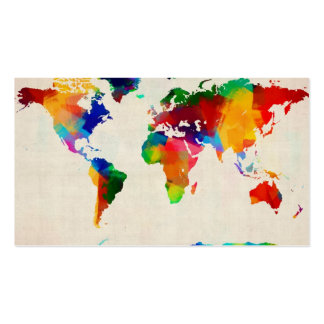 Map of the World Map from Old Sheet Music Double-Sided Standard Business Cards (Pack Of 100)