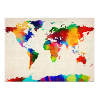 Map of the World Map from Old Sheet Music Announcement
