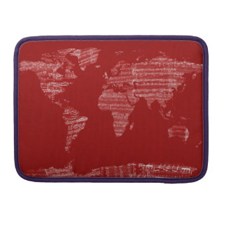 Map of the World Map from Old Sheet Music MacBook Pro Sleeve