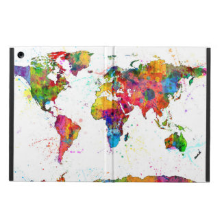 Map of the World Map Watercolor Case For iPad Air