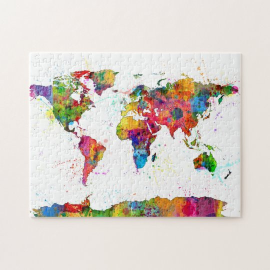 World Map Jigsaw Template Gallery Word Map Images And