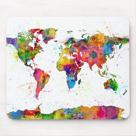 Map of the World Map Watercolor Mouse Pad | Zazzle.com