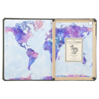 Map of the World Map Watercolor Painting iPad Air Cover
