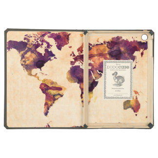 Map of the World Map Watercolor Painting iPad Air Case