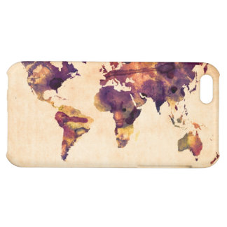Map of the World Map Watercolor Painting iPhone 5C Covers